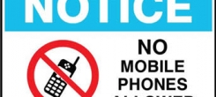 BEWARE: NO PHONE IS ALLOWED IN EXAMINATION CENTRES