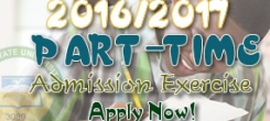 UPDATED: 2016/2017 ADMISSION INTO PART-TIME DEGREE PROGRAMMES