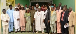 UNIOSUN STRENGTHENS RELATIONSHIP WITH HOST COMMUNITIES… PAID COURTESY VISIT TO THE PALACE OF OBAS IN UNIOSUN HOST COMMUNITIES
